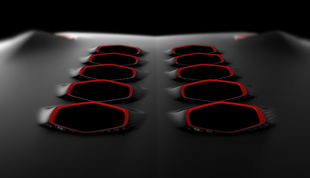 Lamborghini Concept Sixth Element Carbon Fiber Exhaust
