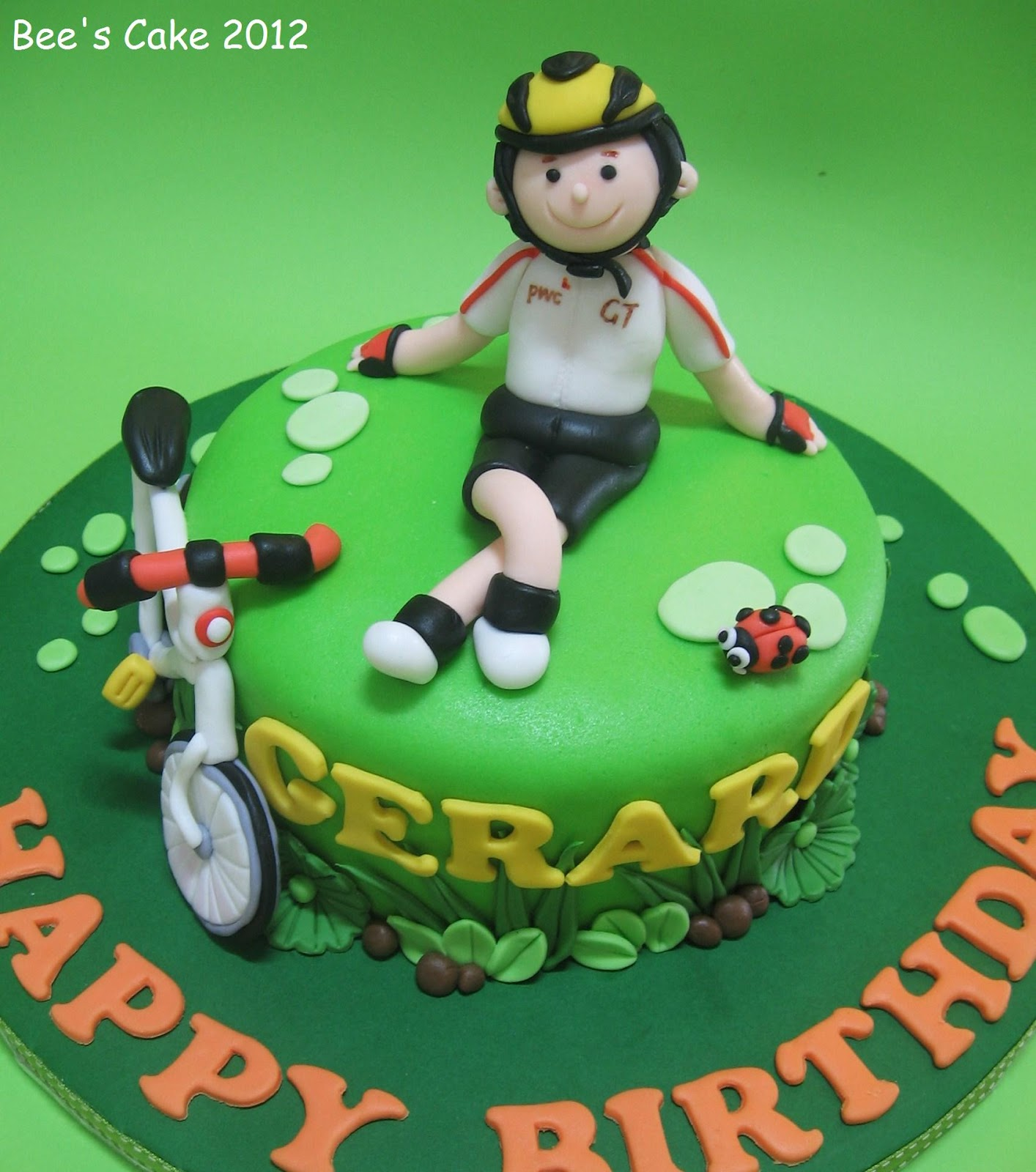 Bees Cake Cyclist