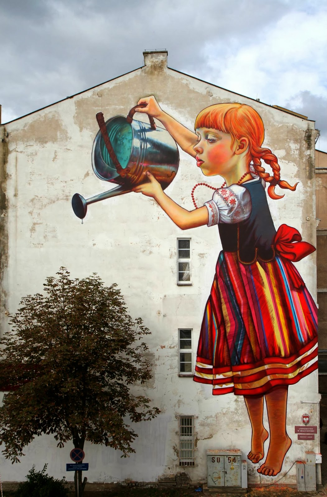 Natalia rak new mural for folk on the street bia ystok for Mural art images