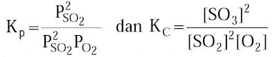 hubungan antara Kp dan Kc