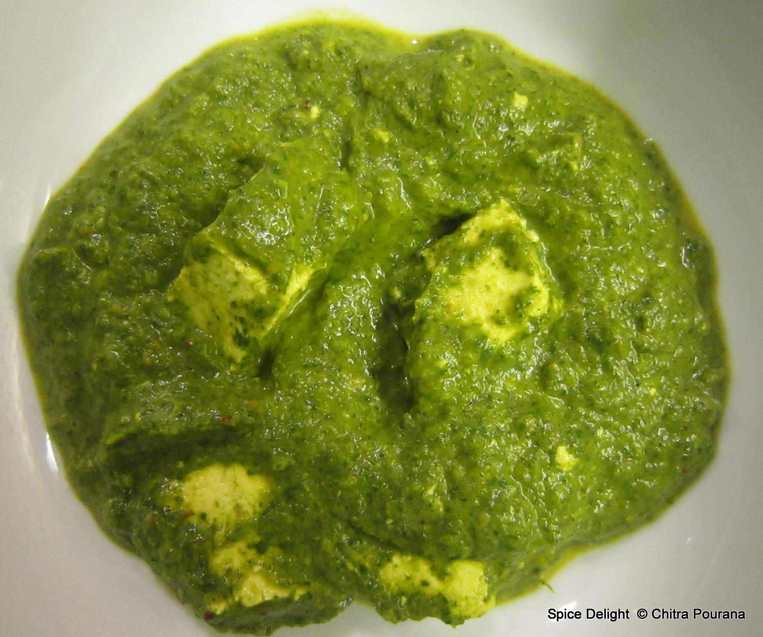 Spice Delight: Paneer with Broccoli Rabe (Saag Paneer)
