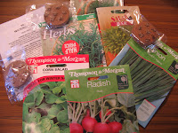 seeds...array of salads and herbs