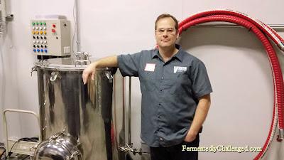 Co-owner/brewer Joe Akers