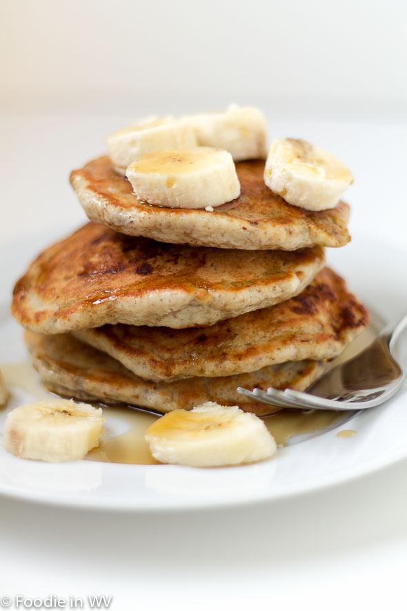 Triple Banana-Flax Pancakes