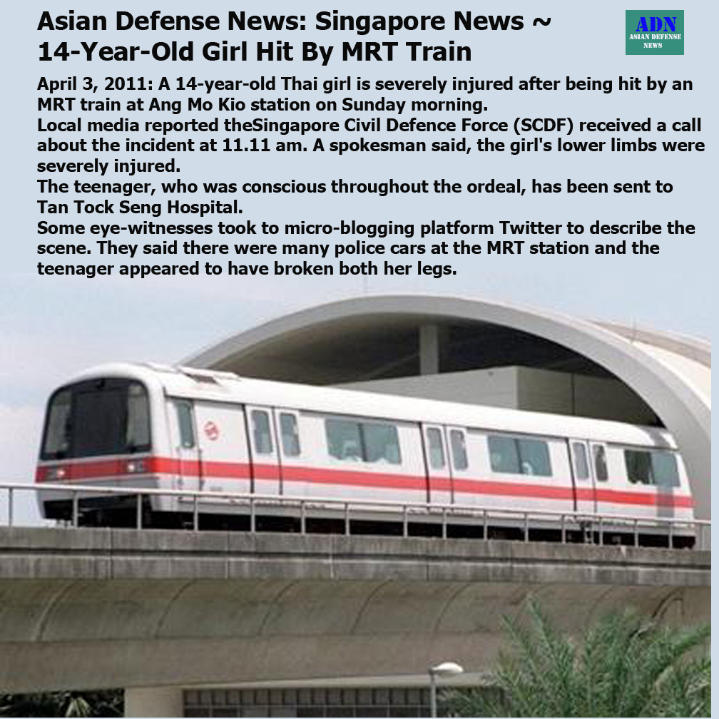 Pictures of The Day: Asian Defense News: Singapore News ~ 14-Year ...