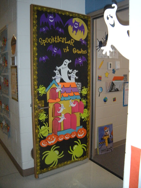 Halloween Classroom Door Decorations ~ Haunted halloween book decorations image