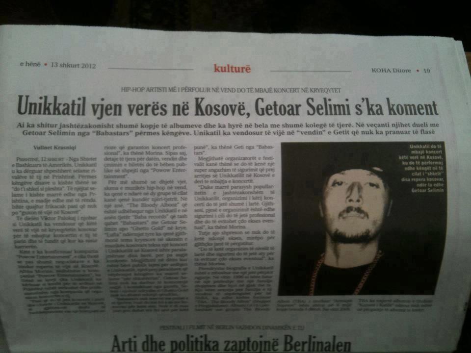 February 2012 ~ Albanian Hip Hop