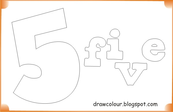 printable-five-coloring-pages