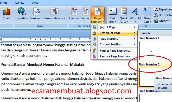 boiklop: Cara Membuat Halaman Makalah (Nomor Halaman ...