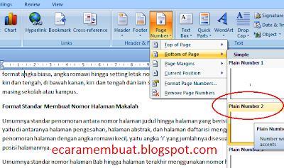 Cara Membuat Halaman Makalah (Nomor Halaman Makalah, Skripsi, Tesis)