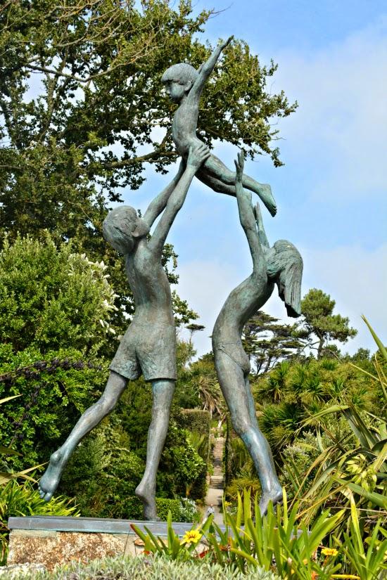 Statue in Tresco Abbey Gardens