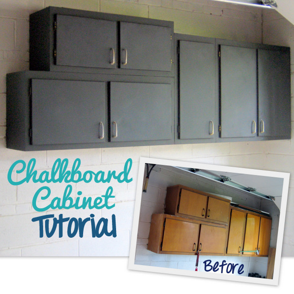Chalkboard Cabinet Makeover: Using Chalkboard Paint | DIY Playbook