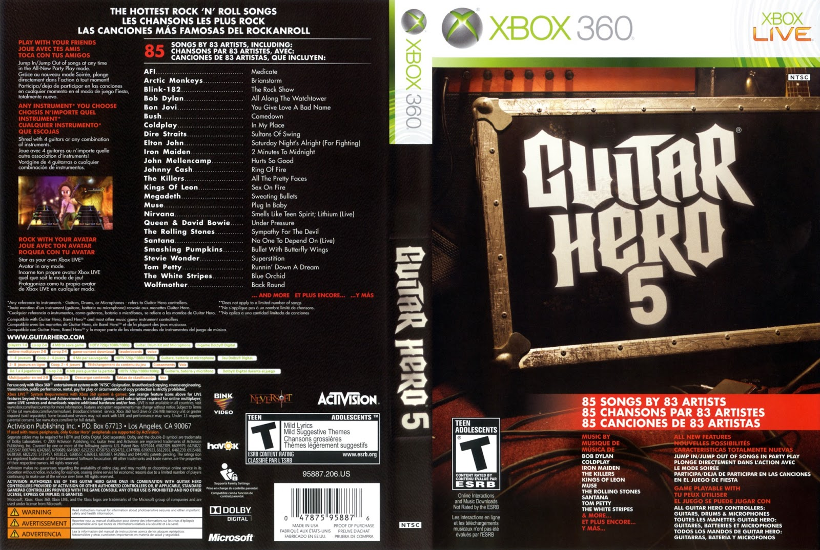 Guitar hero 5 song list myideasbedroom com