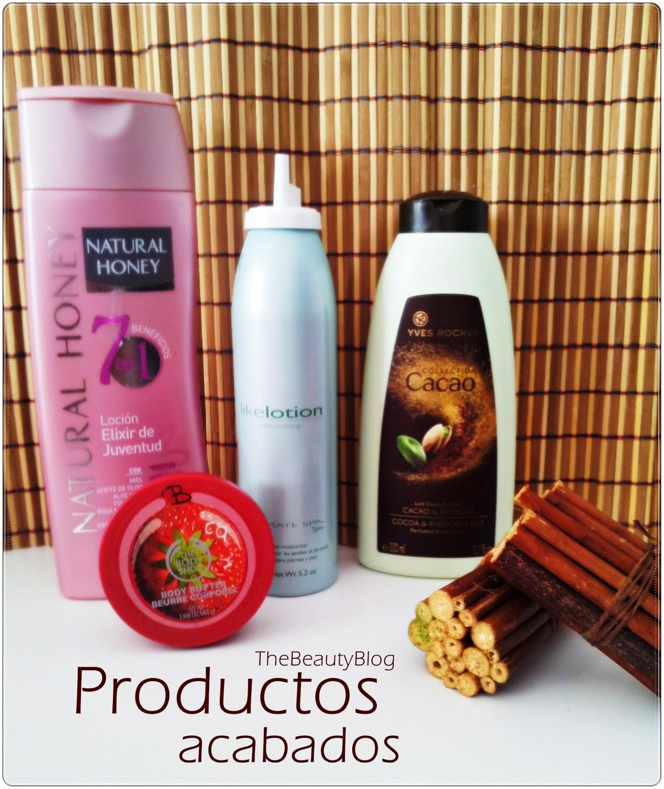 Productos acabados Noviembre/Diciembre 2014 Cuidado Corporal :)