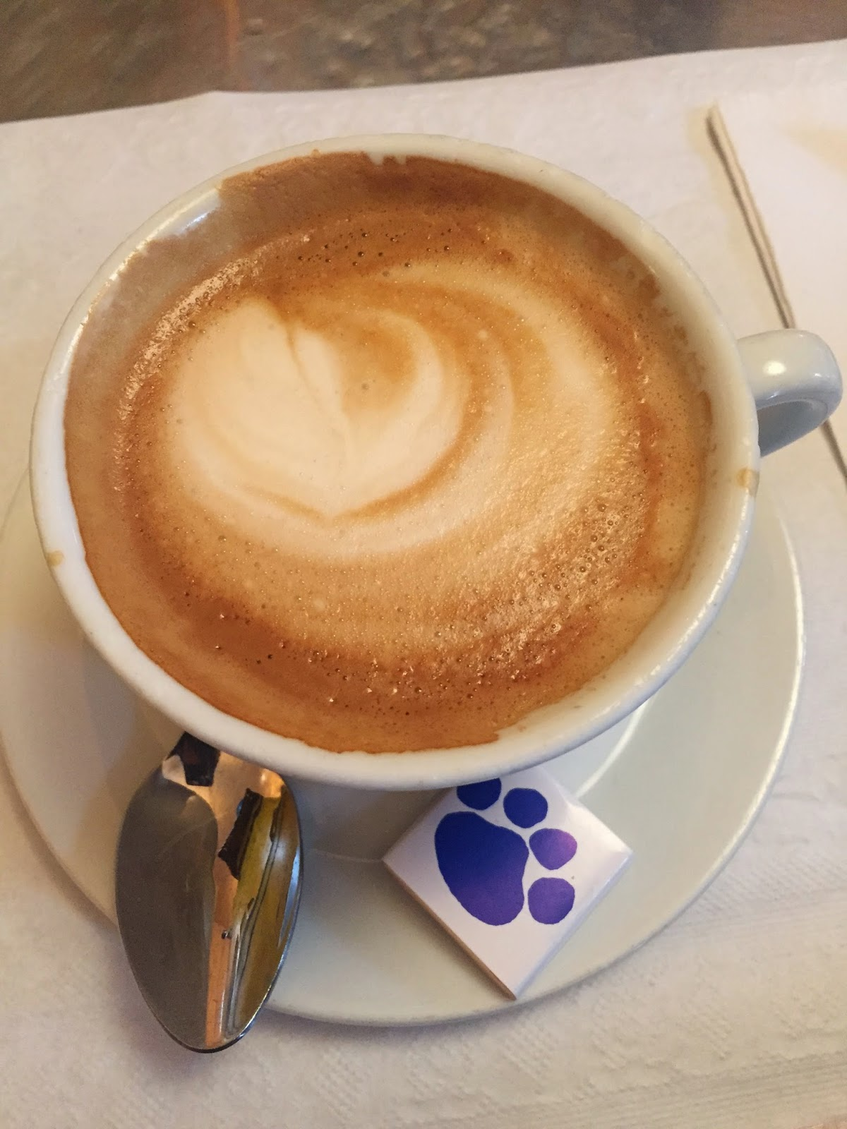 Latte with Soy Milk - Cafe Gitane NYC Vegan