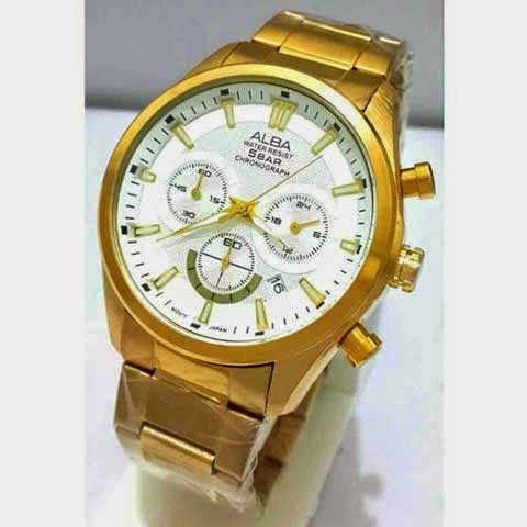 Alba Triple Chrono gold putih