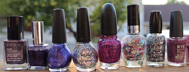 Polish stash - glitters