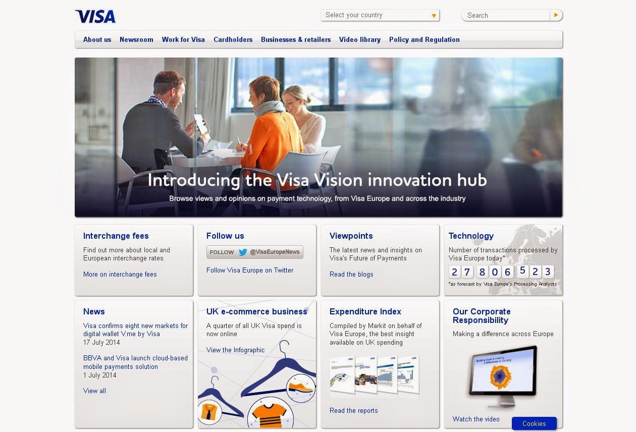 VISA Credit Card Screen