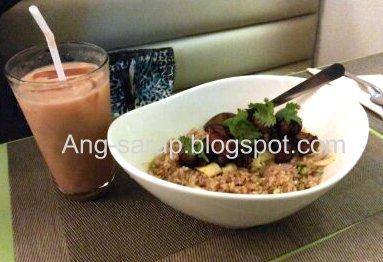bagoong rice and milk tea at Cisan's, Angeles City