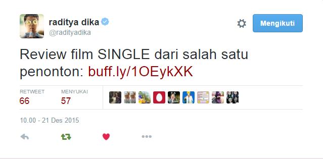review film single oleh raditya dika