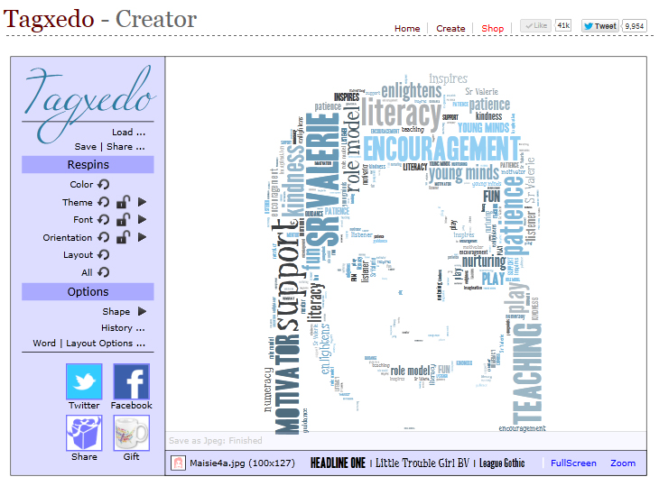 Tagxedo teacher appreciation card craft me happy tagxedo teacher i played around with the orientation option and i thought that the horizontalvertical option worked the best for my image publicscrutiny Choice Image