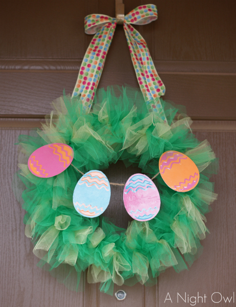 Tulle Easter Wreath A Night Owl Blog
