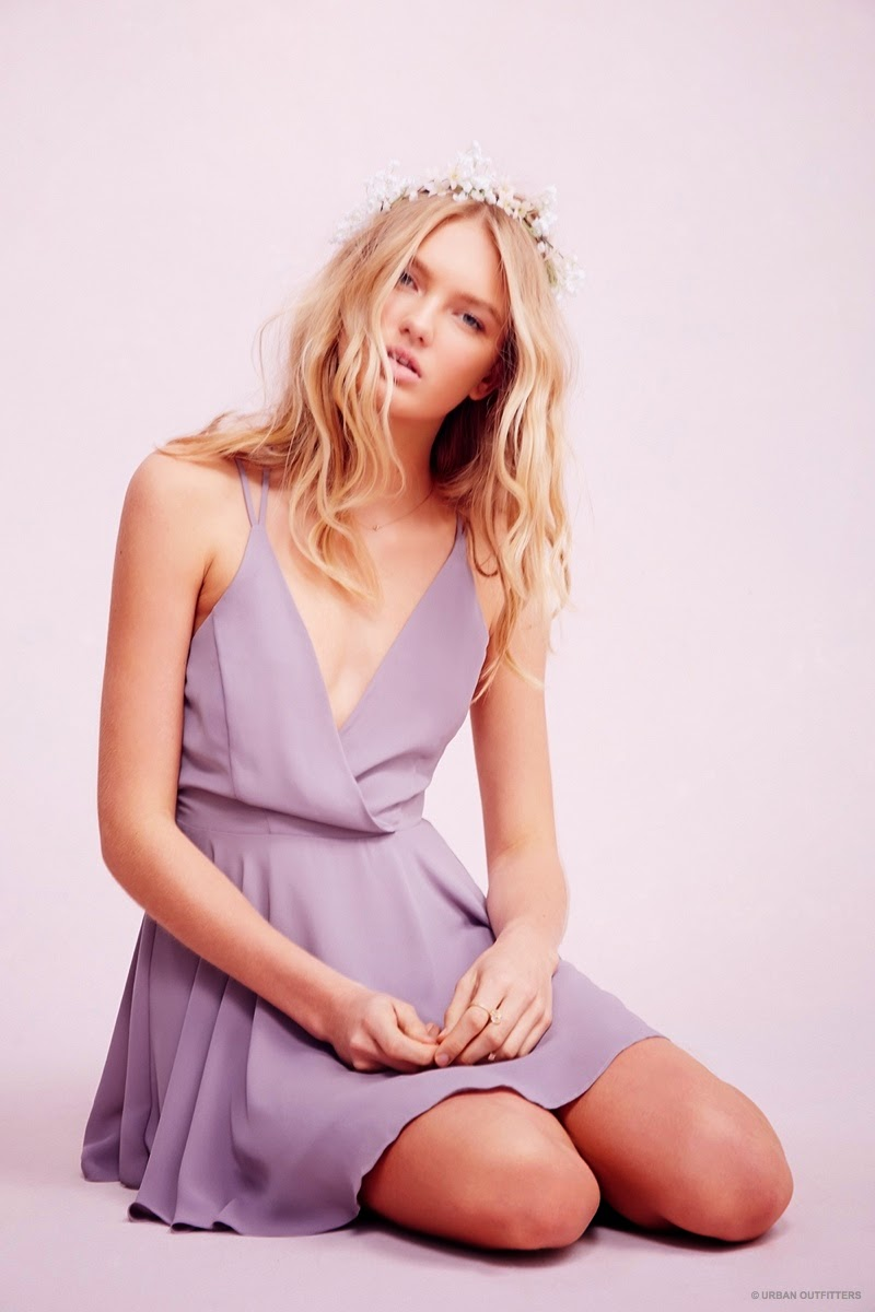 Romee Strijd Wears Valentine's Day Dresses & Lingerie for Urban Outfitters
