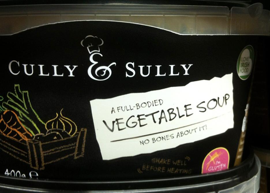 Cully Sully Veg Soup 1pp Per 100g 400g Per Tub