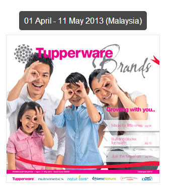 DUNIA PUANSTOBERI: Katalog Tupperware : 01 April - 11 May 2013