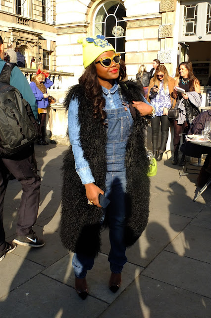 Dungaree, beanies at lfw Somerset \house
