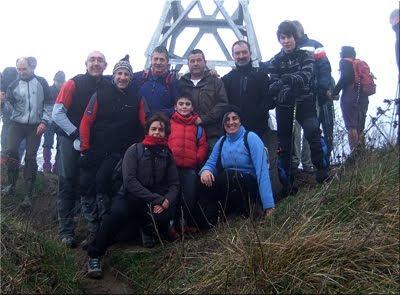 Zaldiaran mendiaren gailurra 978 m.  --  2012ko urtarrilaren 1ean
