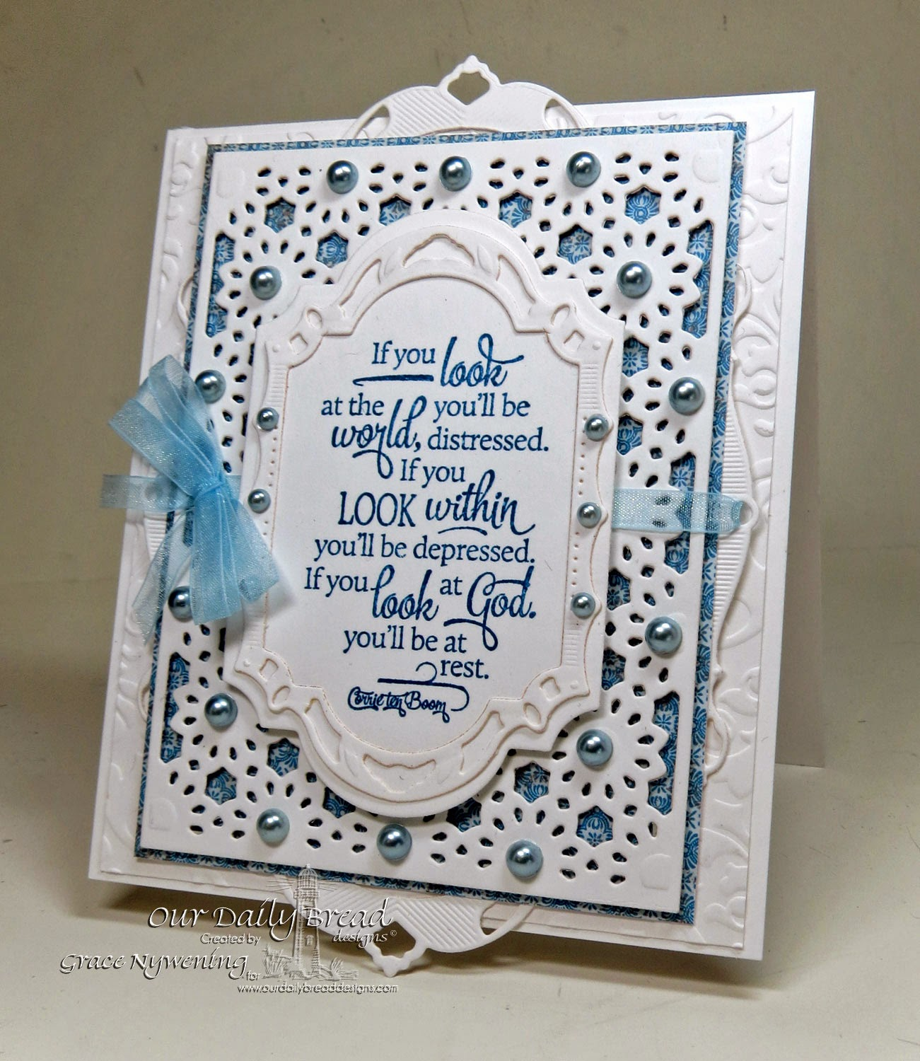 Our Daily Bread designs stamps, Quote Collection 4, ODBD Daisy Chain die, ODBD Blooming Garden Papern Collection, designed by Grace Nywening