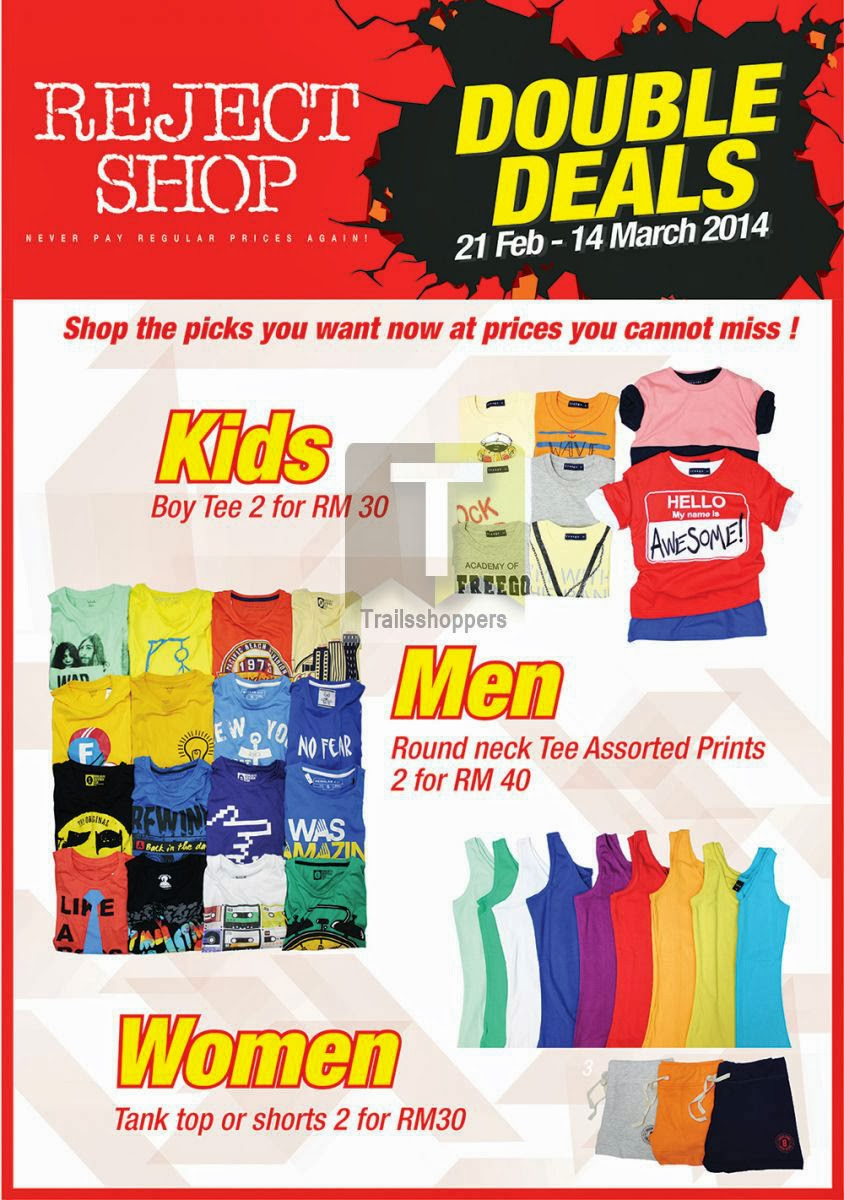 Reject Shop Doubles Deals Apparels Sale
