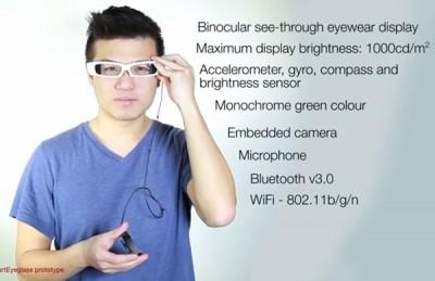 Sony Pamerkan Prototipe SmartEyeglass ke Publik
