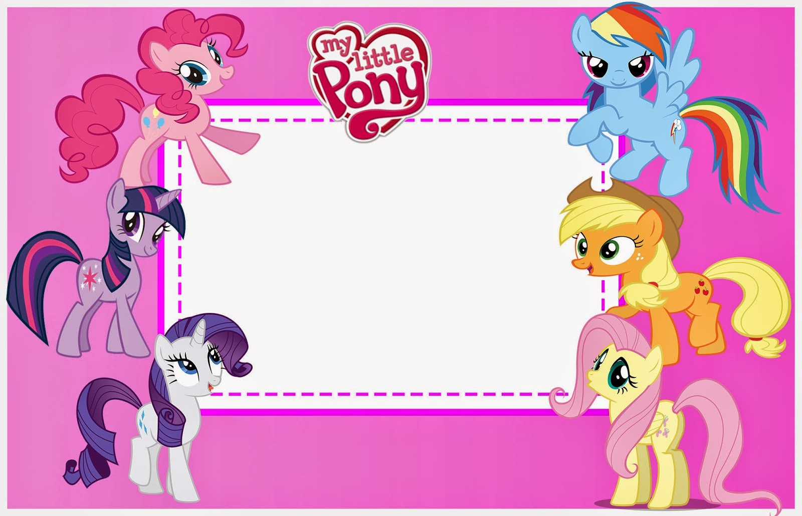 My Little Pony Party Free Printable Invitations Is It For - My little pony birthday party invitation template