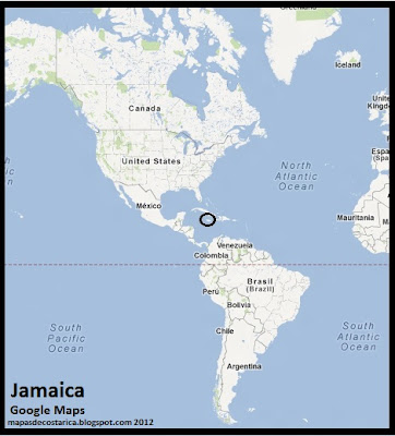 Mapa de Jamaica en América, Google Maps