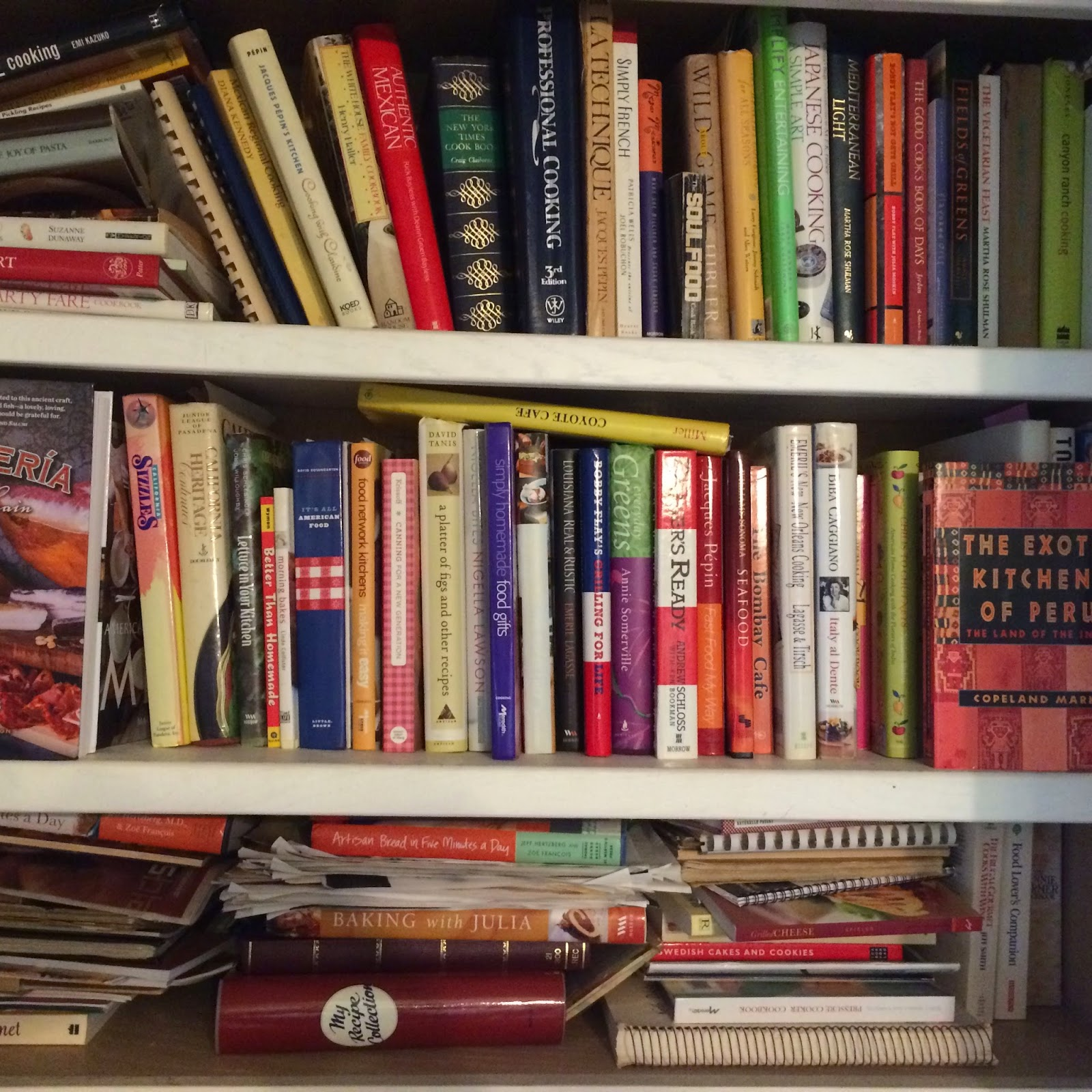 Picture of Cookbooks on a Shelf