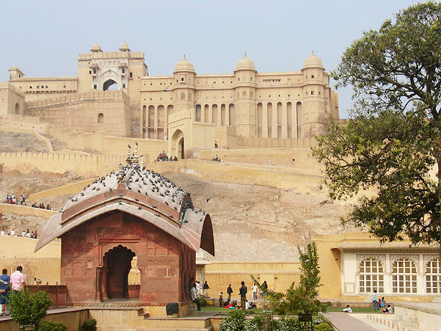 Le palais d'Amber à proximité de Jaipur