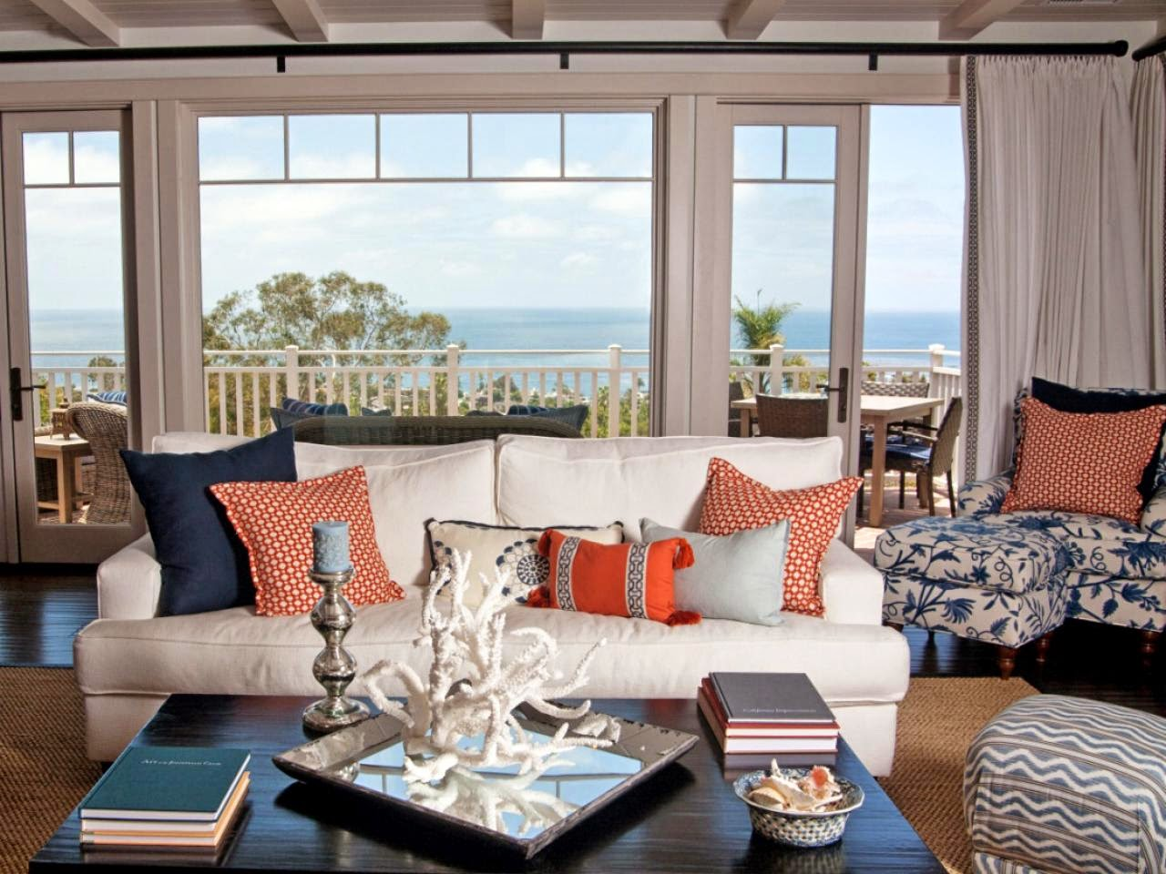 Bedroom Decorating Ideas Blue And Orange everything coastal.: orange crushing - 10 coastal decorated spaces