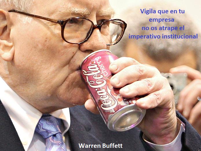 Warren Buffett, imperativo institucional, value investing