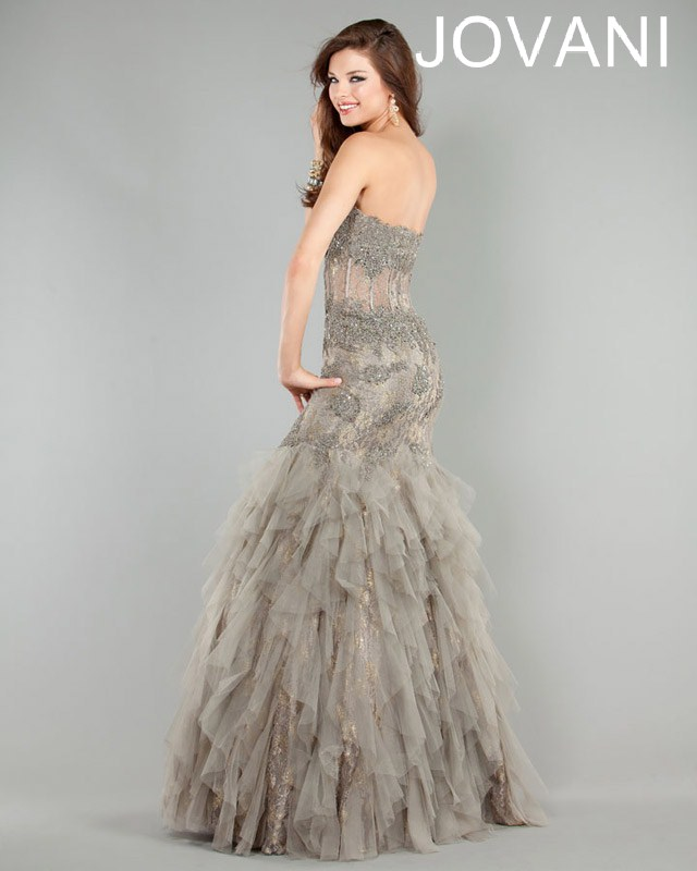 Jovani Prom Dresses 2013 long Lace Mermaid