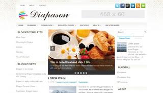 Download Diapason Blogger Template
