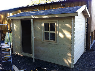 log cabin installation
