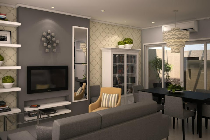 8 grey livingroom design ideas grinders warehouse for Interior design living room yellow
