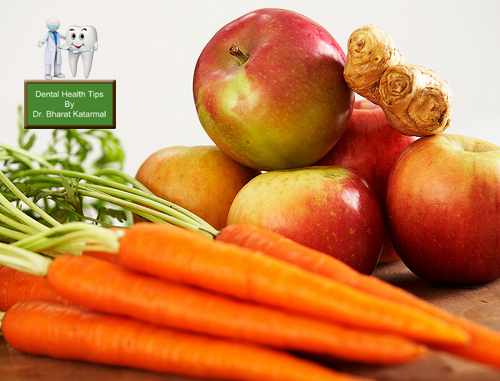 Fibrous food are good for dental health advised by jamnagar doctor