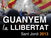 PER SANT JORDI CIU SURT AL CARRER