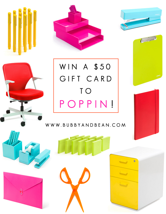 Win a $50 Gift Card to Poppin from Bubby and Bean!