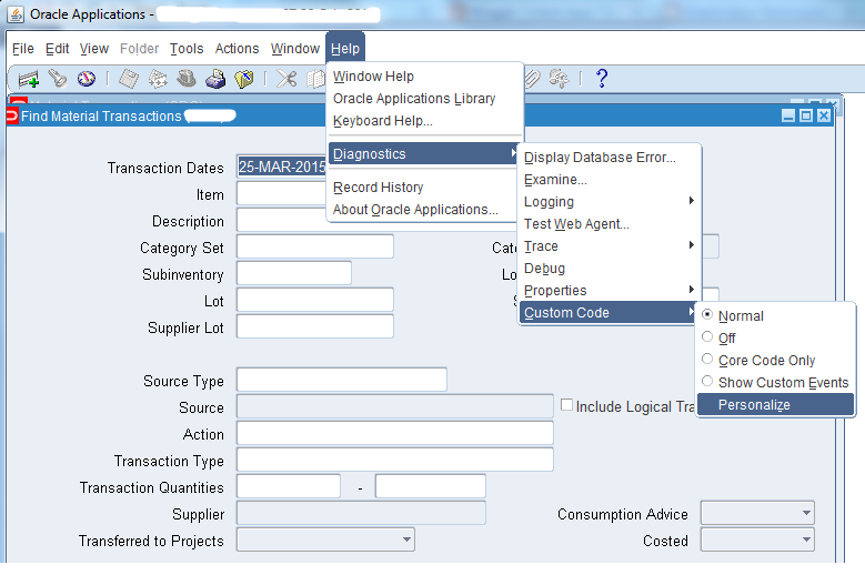 Oracle Apps Techniques: Enable Form Personalization in Oracle APPS