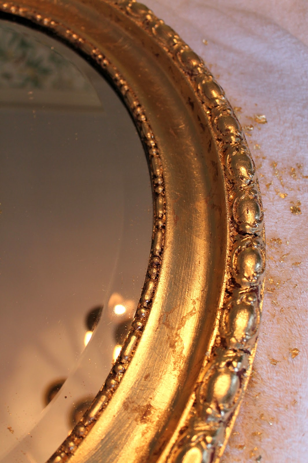 Designing Domesticity Gold Leafed Mirror