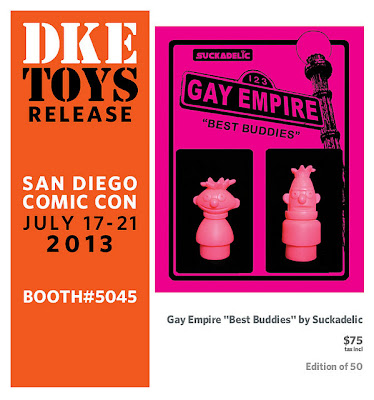 "San Diego Comic-Con 2013 Exclusive Gay Empire ""Best Buddies"" Sesame Street Bert & Ernie Suckpeg Resin Figures by Sucklord"